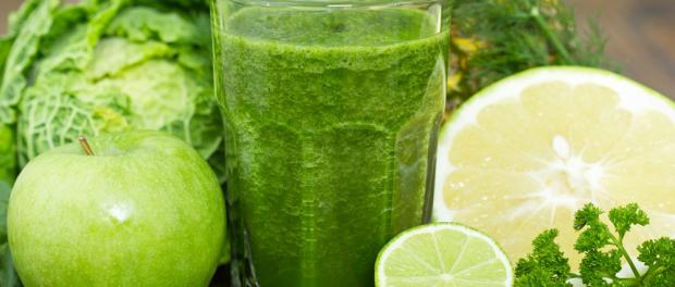 recept za pripremu zelenog kasastog soka green smoothie